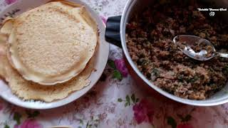 HOME MADE CREPES WITH MEAT RECIPE BY LIANNA ARAQELYAN