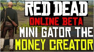 MINI GATOR THE MONEY CREATOR!! - Red Dead Redemption 2 Online Efficient Hunting Location & Tips Video