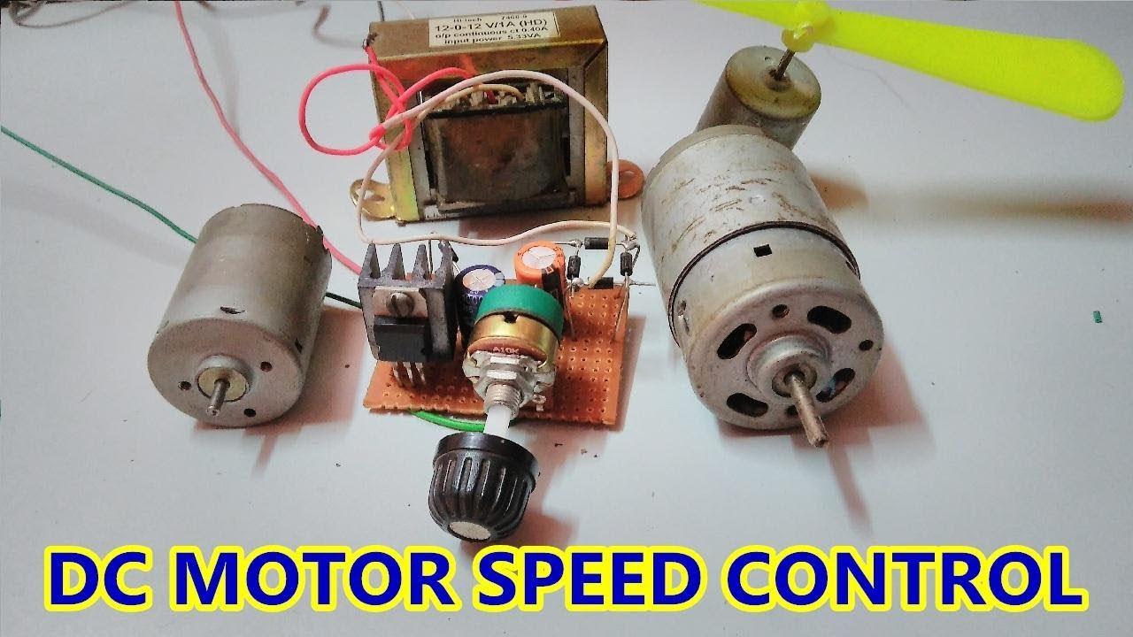 Simple Dc Motor Speed Controller Using Lm317 Adjustable Voltage 12 Volt Wiring Regulator