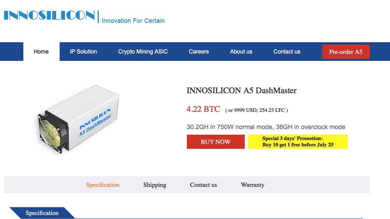 INNOSILICON A5 DASHMaster 38GH/s 1250w DASH X11 ASIC MINER - EXTREMELY POWERFUL