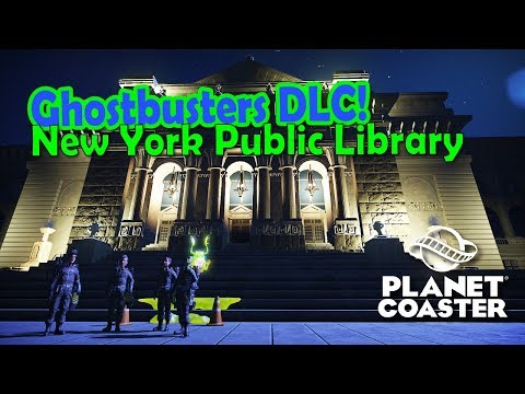 Ghostbusters DLC | New York Public Library speed build | Planet Coaster |