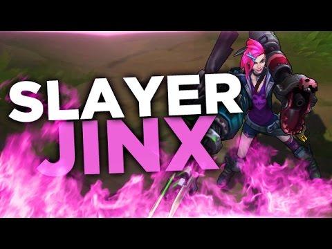 Slayer Jinx ★ New Jinx Skin! - ADC - Full PBE Gameplay Commentary