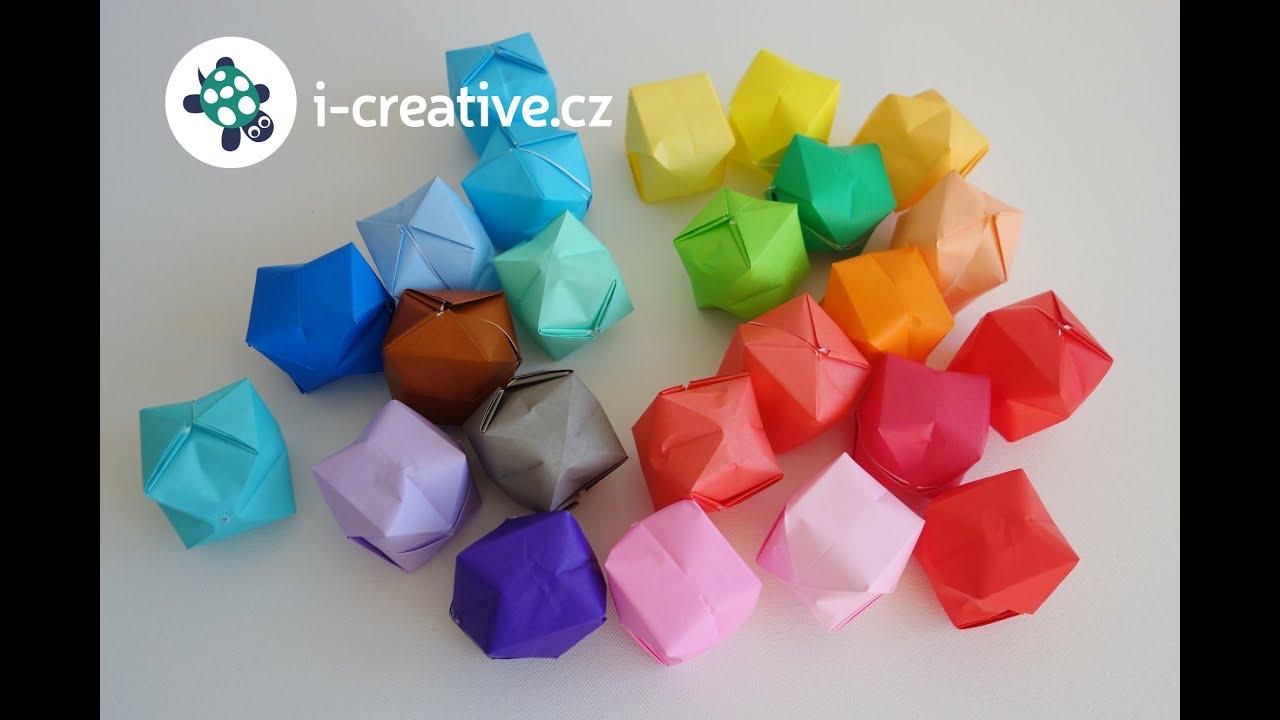 Origami nafukovací balónky - návod - YouTube - photo#46