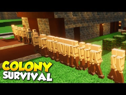 HUNDREDS OF COLONISTS + UNDERGROUND BASE! - Colony Survival Gameplay [Ep 8]