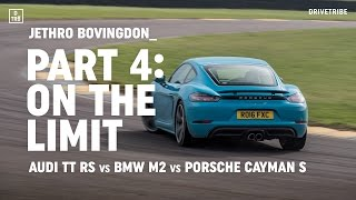 Audi TT RS vs BMW M2 vs Porsche 718 Cayman S: on the limit