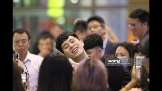Toàn cảnh Đình Trọng trở về được chào đón hơn ngôi sao thế giới tại Nội Bài