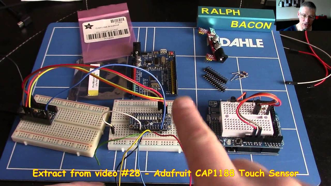 Cap touch sensor usb keyboard emulator using
