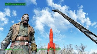 Fallout 4 Gameplay: LARGEST STAIRCASE EVER!  Settlement Building and Funny Moments
