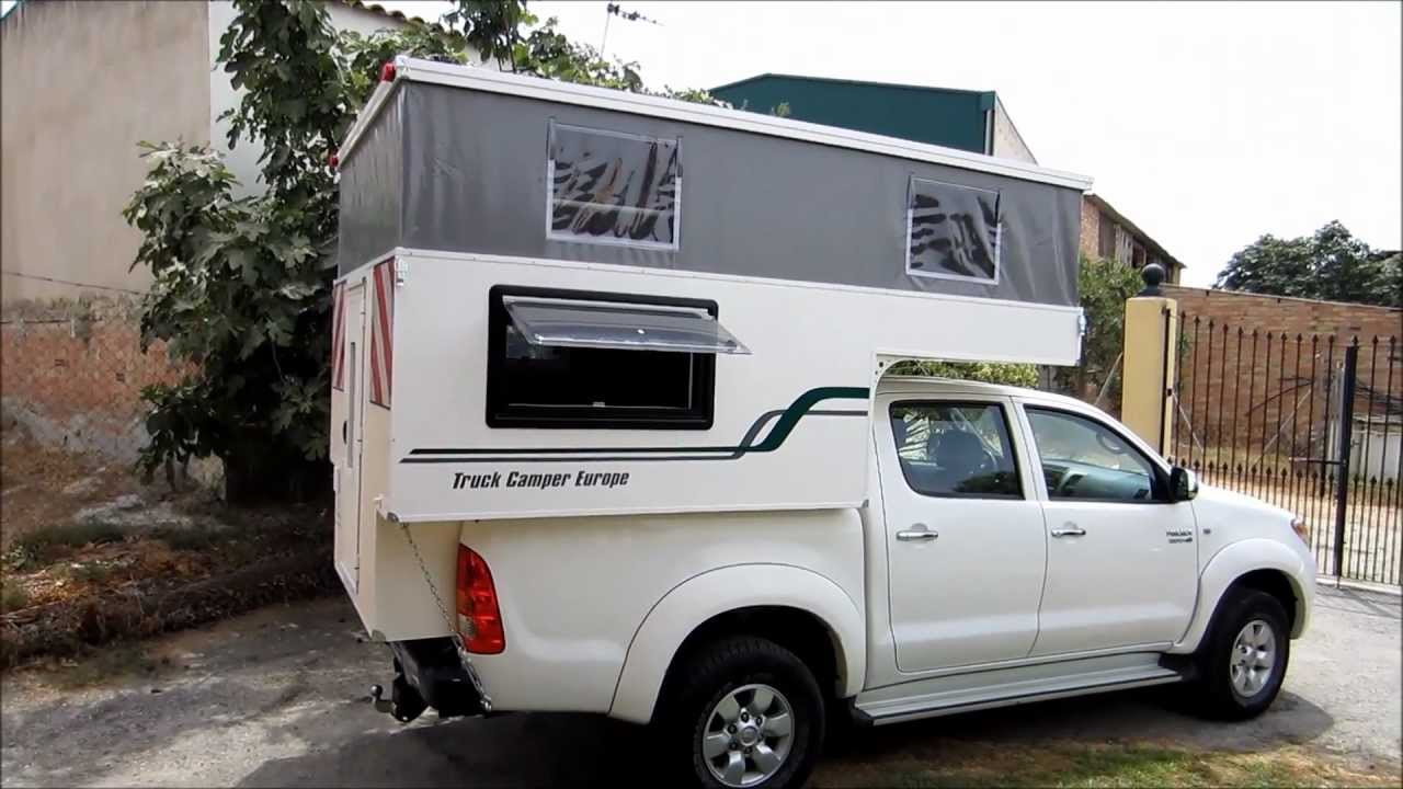 Ford Camper Van >> Truck Camper Europe Celúla cabina vacía Toyota Hilux - YouTube