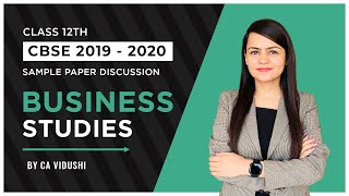 CBSE Sample Paper 2019-20 Business Studies Class12 Discussion Answers