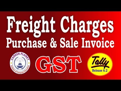 Tally ERP 9-GST Freight Charges or Packaging Charges in Purchase and Sales Invoice Part -70