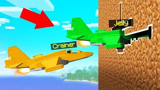 FIGHTER JETS vs. SPEEDRUNNER In MINECRAFT!
