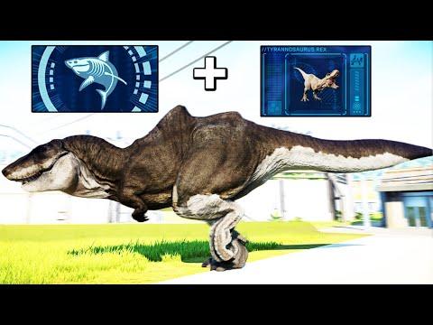 I SPLICED SHARK AND TREX DNA in Jurassic World Evolution Modded |