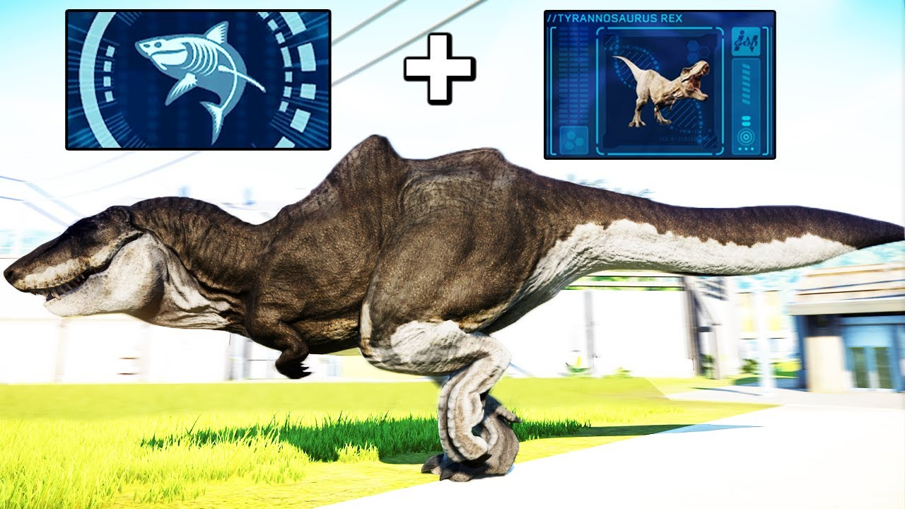 I SPLICED SHARK AND TREX DNA in Jurassic World Evolution Modded