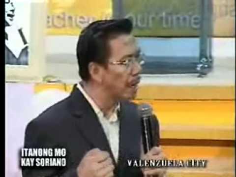 Itanong mo kay Soriano: Dapat bang magtalo talo ang lahat ng relihiyon at magsiraan?