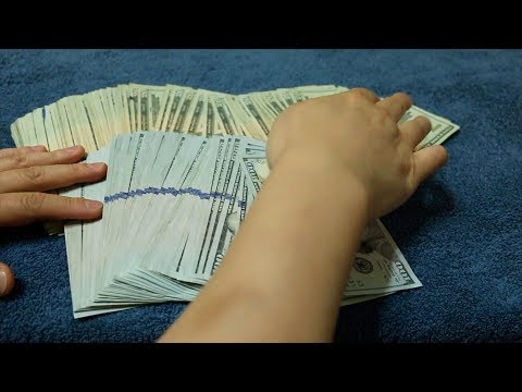 Counting over $15,000 Cash *emotional ASMR Hype