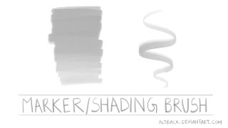 Marker/Shading Brush (Photoshop)