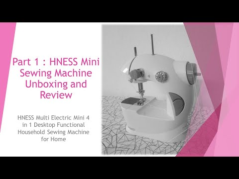HNESS Mini Sewing Machine Unboxing and Review in Hinglish | हिंदी
