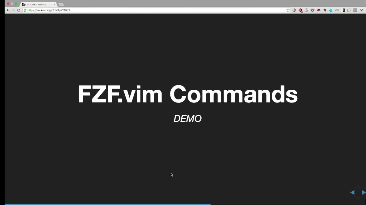 5cbe59dd1e01b1 Vim Chicago Meetup - FZF and Vim Talk - Dorian Karter - YouTube