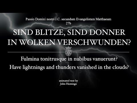 27b Sind Blitze, Sind Donner (Bach's Matthew Passion)