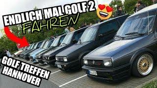 Zum ERSTEN MAL Golf 2 FAHREN! + Golf II Treffen Hannover | Volkswagen MK2 | Kamei