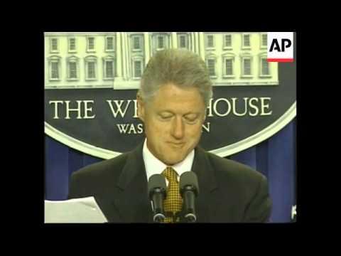 USA: BILL CLINTON'S WARNING TO YUGOSLAVIA