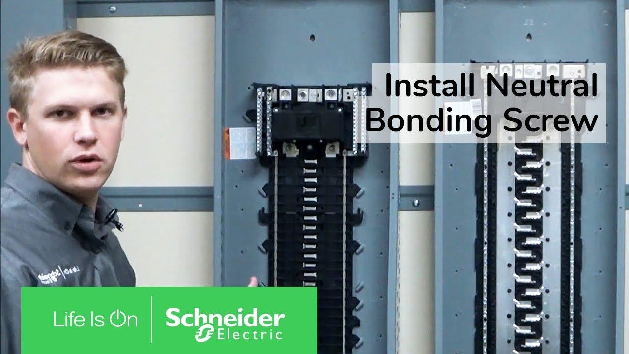 Installing Neutral Bonding Screw On Qo Homeline Load Centers Schneider Electric Support Youtube