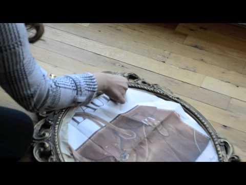 DIY DECOR paint spray your old mirror