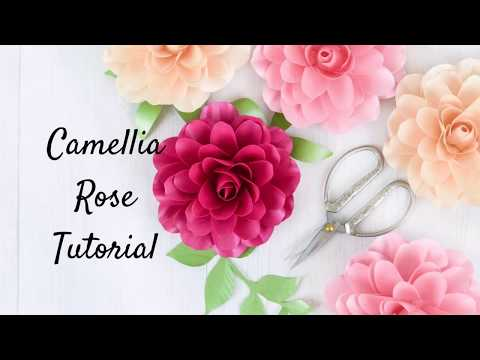 How to Make Small Paper Camellia Rose Flowers