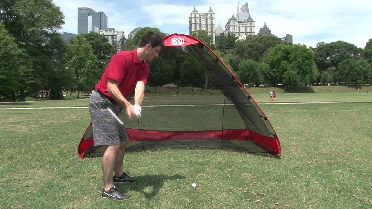 the rukk net the ultimate golf practice net youtube