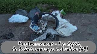 Environnement - Les dépôts de déchets sauvages à Avallon (89)