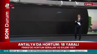 Finike'de hortum felaketi Antalya'yı hortum vurdu! Yaralılar var