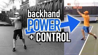 How to: Two Handed Backhand Power AND Control