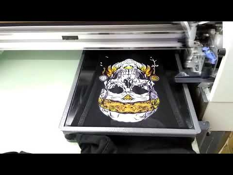 How to digital direct print to denim jeans ready make garment clothing