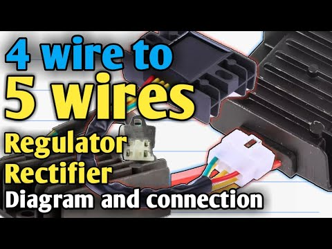 4 wires to 5 wires regulator rectifier paano ang connection wiring diagram