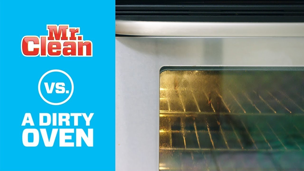 Take The Heat Out Of Oven Door Cleaning Mr Clean