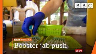 Fresh calls to get a Covid booster jab @BBC News live 🔴 BBC