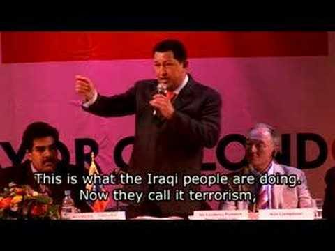 Hugo Chavez talks socialism in London