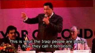 Hugo Chavez talks socialism in London