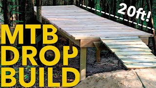 Building a HUGE DROP on my Backyard Trails!