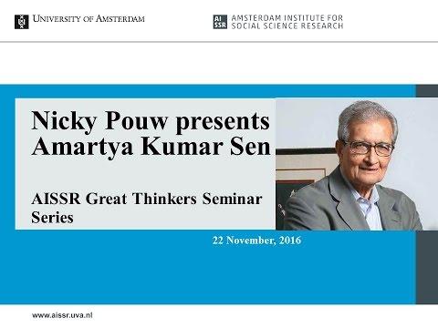 Nicky Pouw presents the work of Amartya Kumar Sen - AISSR Great Thinkers Seminar Series