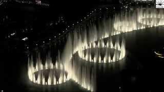 The Dubai Fountain, Downtown Dubai performs Flying Drum