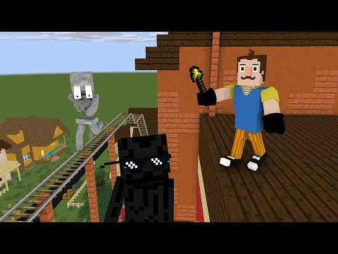 Monster School : HELLO NEIGHBOR - FIND SECRET ROOM CHALLENGE - Minecraft Animation