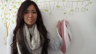 DIY: Easy 2 Color Circle Scarf Crochet Tutorial
