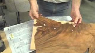 Restoring An Antique Simon Willard Clock - Part 5 Of 10 - An Irregular Veneer Patch