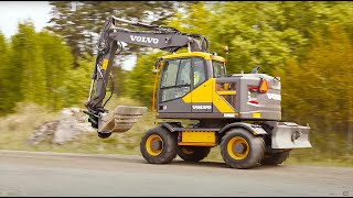 EWR150E Volvo Construction Equipment Short Swing Wheeled Excavator