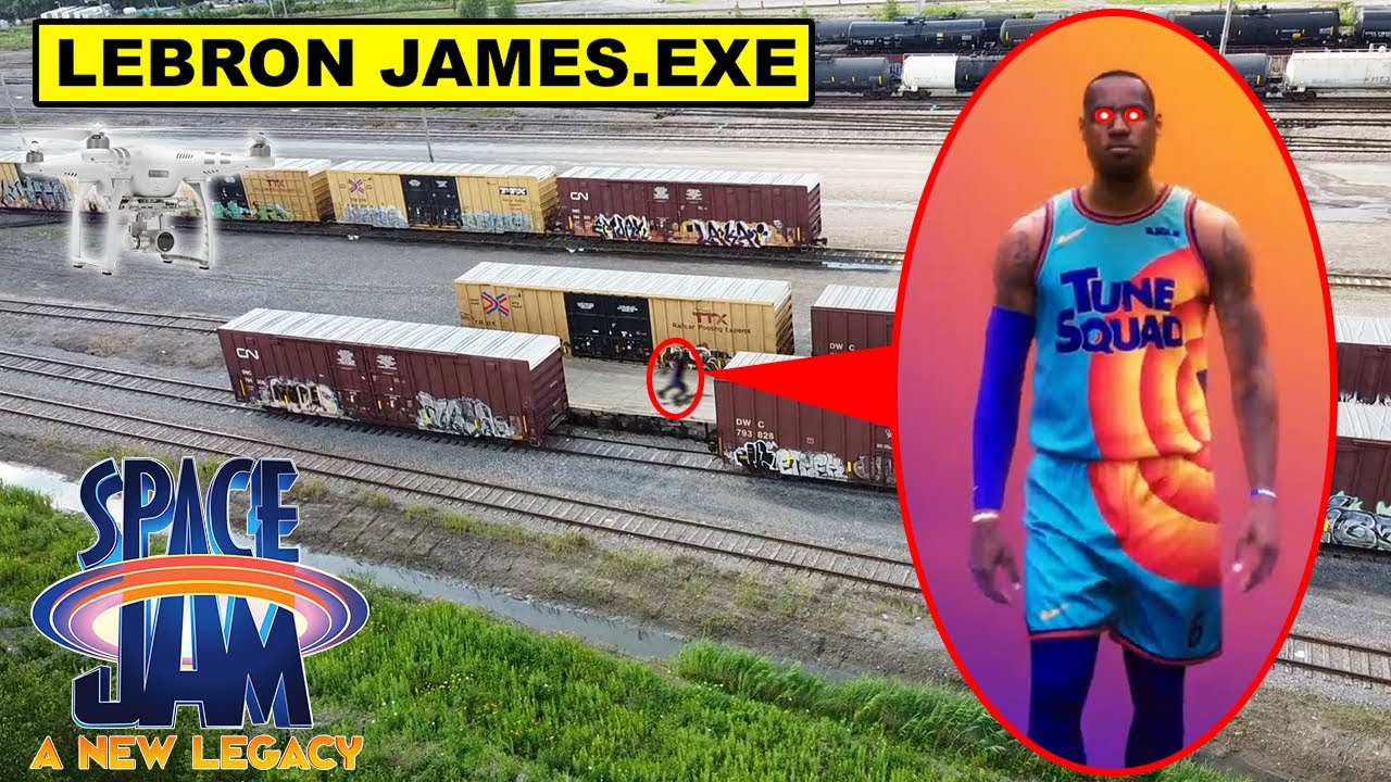 DRONE CATCHES CURSED LEBRON JAMES.EXE FROM SPACE JAM 2! | LEBRON JAMES.EXE CAUGHT ON DRONE (CREEPY)