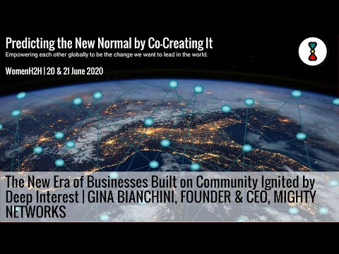 Gina Bianchini, Founder & CEO of Mighty Networks in a Heart-to-Heart Conversation with WomenH2H