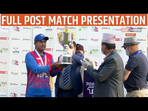 Post Match PRESENTATION HIGHLIGHT FINAL    Nepal Vs Netherlands