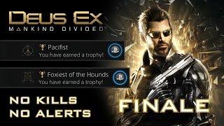 Deus Ex: Mankind Divided - NO KILLS, NO ALERTS SPEEDRUN (PACIFIST + FOXIEST OF THE HOUNDS) (11/11)